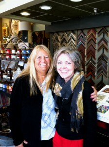 Loyal customer, Jane Coleman, and co-owner of Colorado Frame and Savvy Stuff, Margie Drake (Photo by Stephanie V. Coleman)