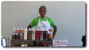 An employee behind the counter at Fro Yo Spot Aurora. Picture from aurora.froyospot.com