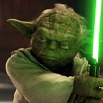 Master Yoda puts in major light saber duty.