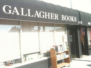 The store front of Gallagher Books