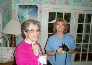 "Dorothy Crocker (right), Pam Ricky (left); they live at Denver Metro Village. Dorothy says, ""You better enjoy your youth because before you know it you will be relying on someone else to take care of you."""