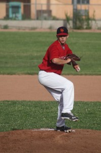 Forrest Carpenter pitching for the Santa Fe Fuego [Photo Courtesy of Debbie Carpenter]