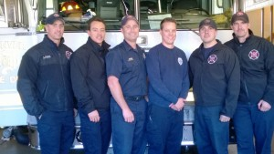 Lt. Romero (Left) and firefighters at Station 8 Photo taken by Robert Crew