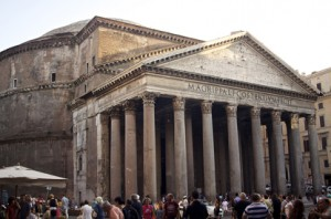 The Pantheon, built in 126 A.D. Rome, Italy. [Photo by Tony White]