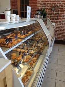 A bakery case full of treats. Photo by Mia Szabo