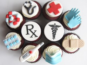 Doctor themed cupcakes - photo credit Clever Cupcakes, used under Creative Commons license.