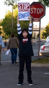 Ryan Martinez, a 7th grader at JeffCo Open School in Lakewood, was stands up for his own education, saying he deserves an education that matters. (Photo credit: Rochelle Ball)