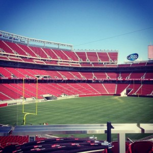 Levi's Stadium in San Francisco getting ready for its inaugural season. Summer of 2014 (Photo by Dylan Palm-Trujillo)