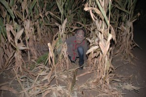 Corn Maze Dweller at Scream Acres [Photo_ Duane Hirschfeld]