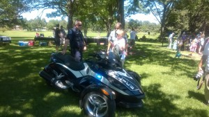Glendale keeps futuristic motorcycles that excite kids showing them at many events. [Photo: Glendale Police Dept.]