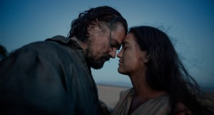 Hugh Glass (played by Leonardo Dicaprio) with his wife (played by Grace Dove) who is Pawnee, a Midwestern Native American tribe