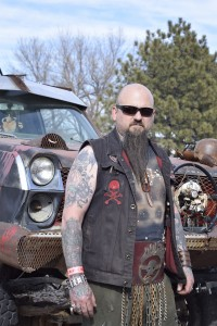 Ted Thompson, custom wasteland vehicle made from scrapyard material. Photo by Kavann Tok