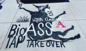 I did a giant chalk illustration for Parry's Pizzeria that was called, 'The Big Ass Tap Takeover -- Seven Kuc.