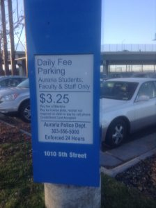 Daily Parking on 1010 5th Street for Students, Staff and Faculty only. [Courtesy Photo]