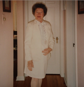 My Grandmother, Frances H. Toutant, on her way to visit family. [Photo: Victoria Toutant]