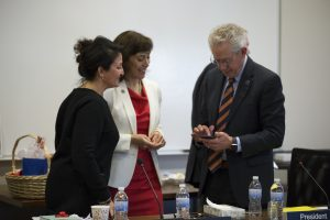 Dr. Janie Davidson told trustees, students and faculty that students will be a priority during her tenure. [Photo: Sara Hartwig]